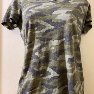 Green Army Print T-Shirt